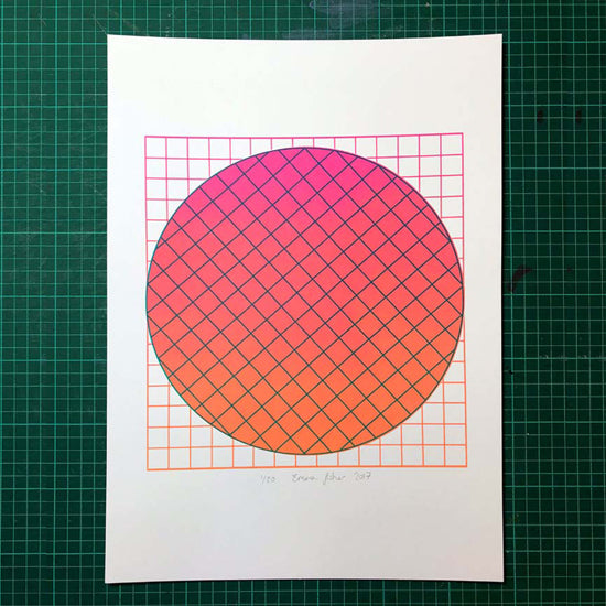 Grid Magenta | A3 Limited edition screen print