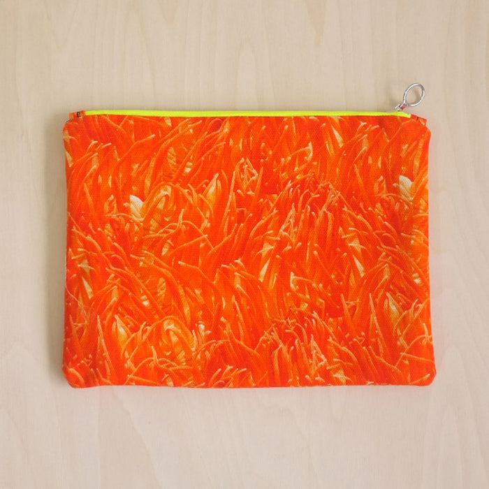 Anemone Clutch Bag Orange