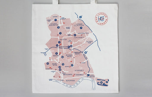 Market Map East shopping bag