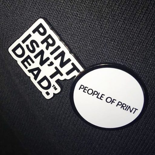 People of Print — Pin Badges