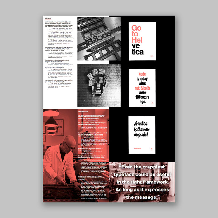 Posterzine™ Issue 35 |  Erik Spiekermann