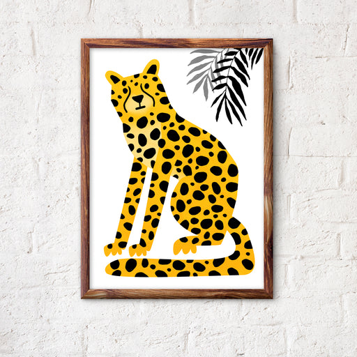 Cheetah. Wild animal print. Wild cat illustration.