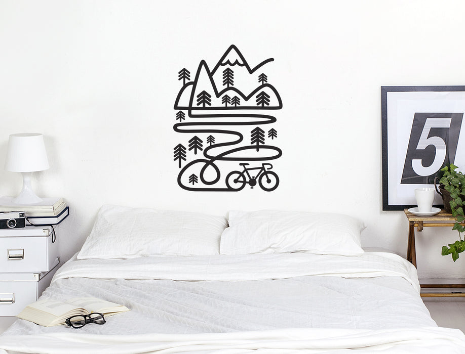 Draw your own line. Cycling and inspirational wall decal. Perfect decoraion for your wall or office.