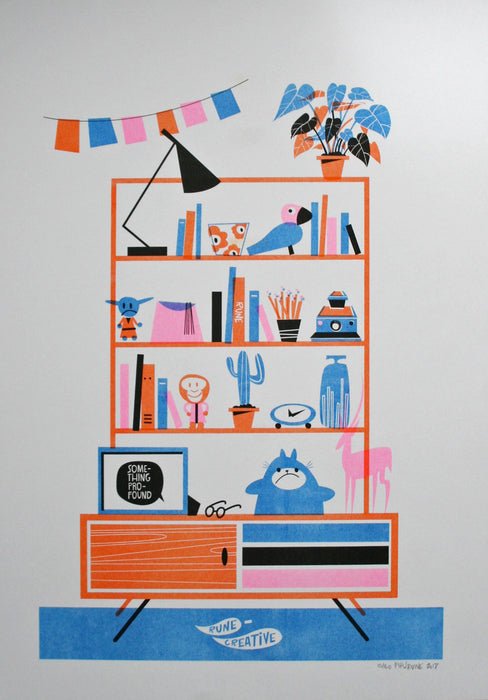 COOL SHELVES A3 Print
