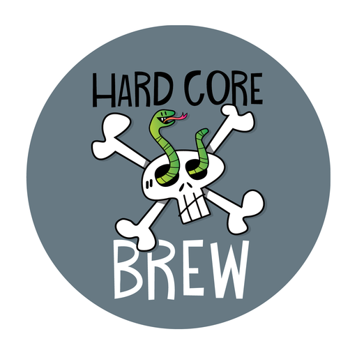 HARD! CORE! BREW! Coaster