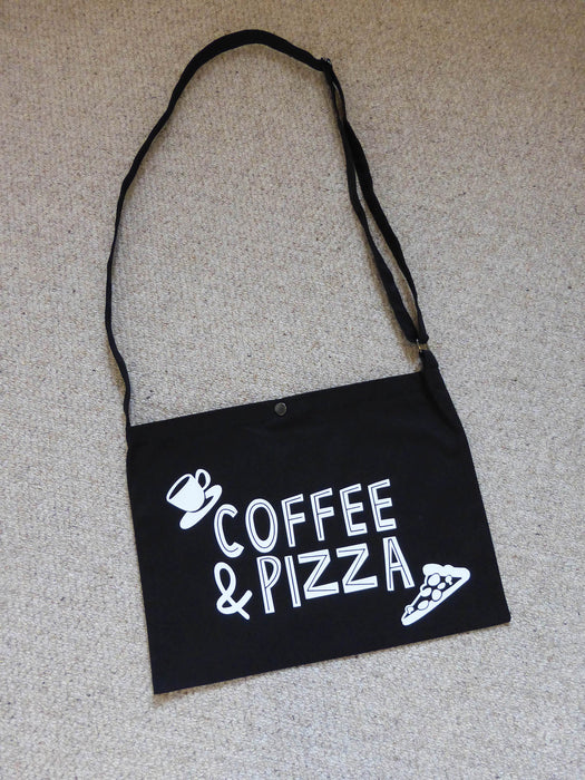 Printed Musette bag - Coffee & Pizza