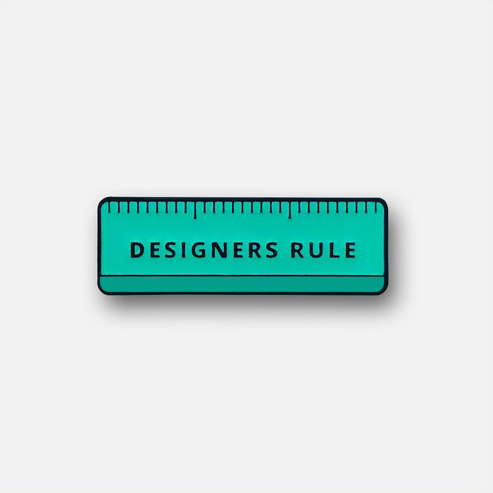 Designers Rule Pin Badge | Pantone 3245U