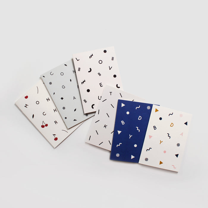 Confetti Cards - Set of 6
