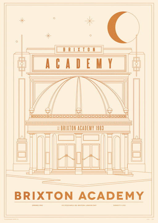Brixton Academy Venue Screenprint