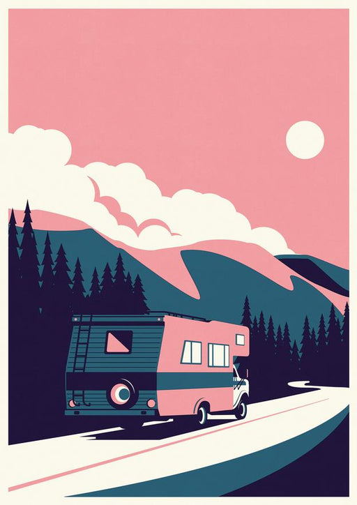Summertime Travel - RV - A2 Screenprint