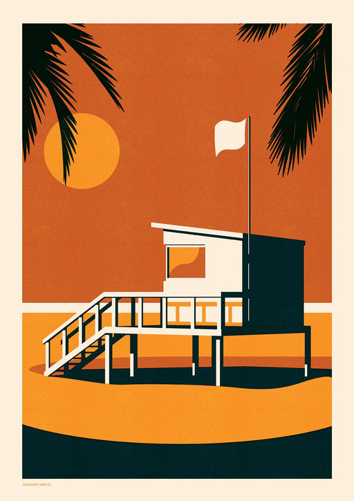 Endless Summer - Lifeguard A2 Screenprint
