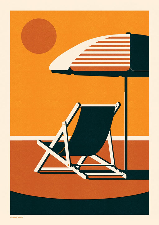 Endless Summer - Deckchair A2 Screenprint