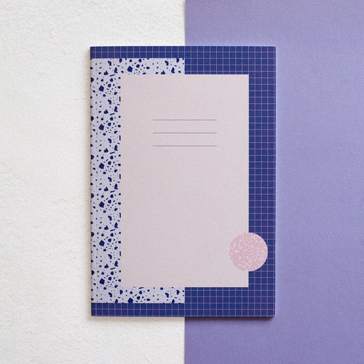 A5 recycled notebook - Purple