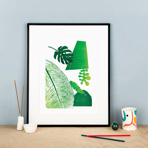 Leaf Mono 1 - A3 Abstract Giclée Print