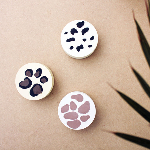 Set of 4 Animal Print Coasters - Cheetah, Giraffe or Leopard