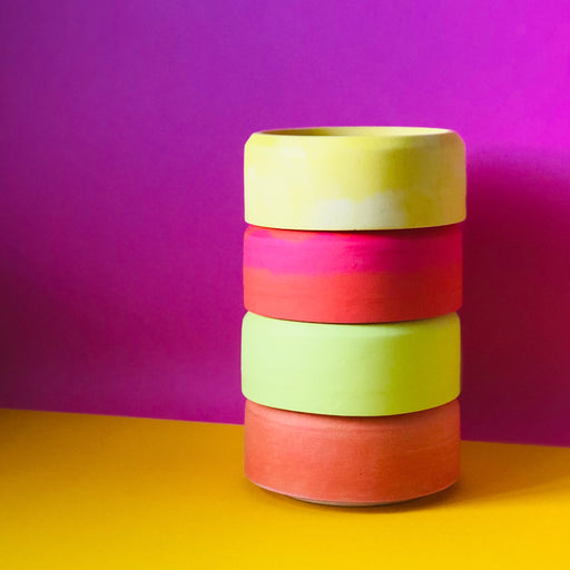 Stackable Storage Dishes - Neon Theme