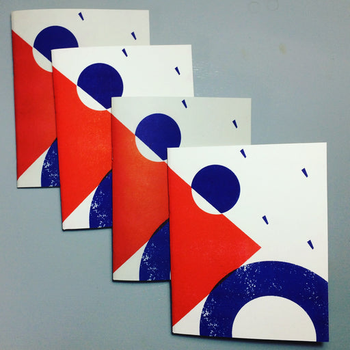 A5 Blue and Red blank Notebook