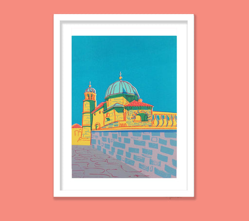 Montenegro Chapel 7-colour screenprint