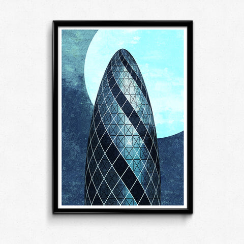 """The Gherkin"" – Giclée Print, Limited Edition"