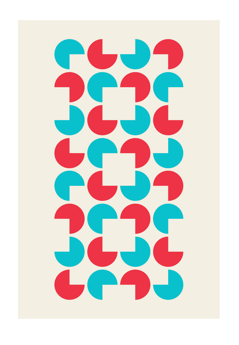 """Seeming"" - Limited Edition Geometric Screenprint 50x70cm"