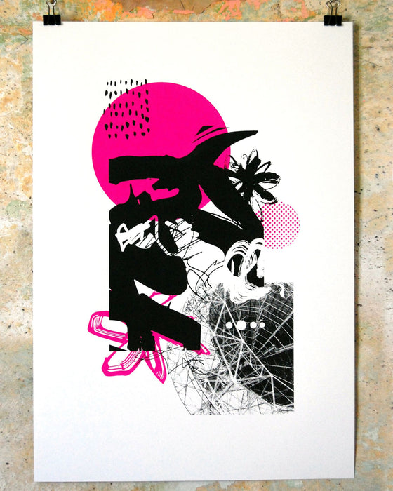 """What is..."" 35x50cm 2 colour hand-pulled screenprint"