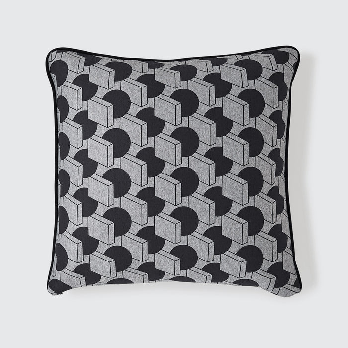 A Sphere Meets A Square Cushion / Steel Grey