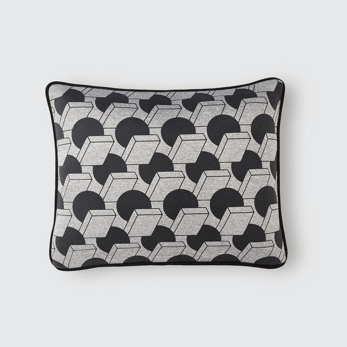 A Sphere Meets A Square Cushion / Steel Grey (S)