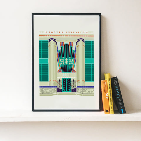 Art Deco London :  The Hoover Building Illustrated Art Print
