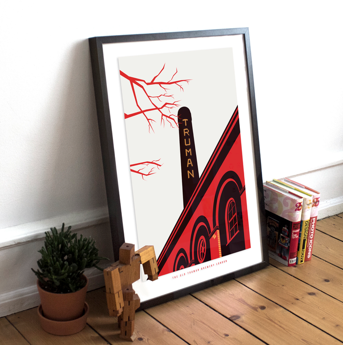 The Old Truman Brewery Illustrated Art Print