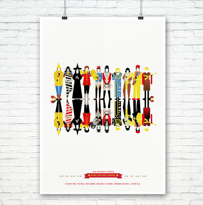 'The Rock and Roll Circus' Illustrated Art Print