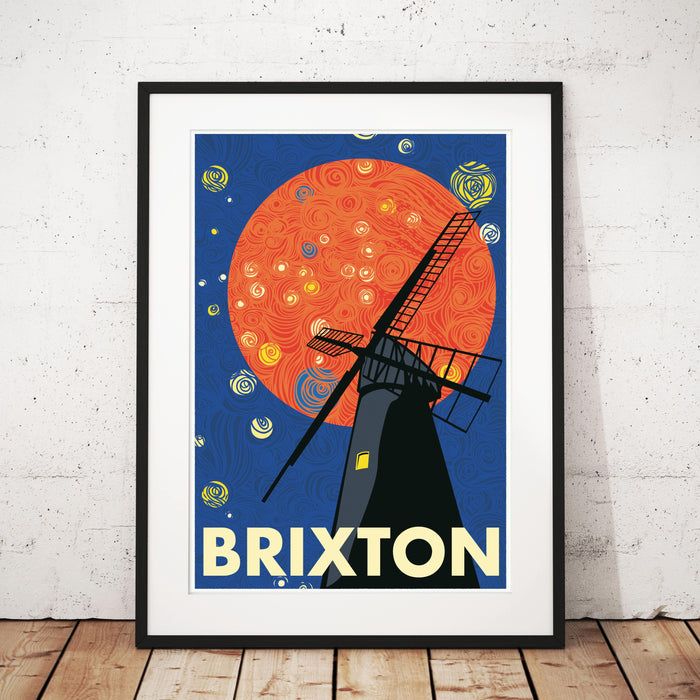The Brixton Windmill Illustrated Art Print.