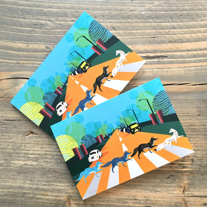 Abbey Road Foxes Mini Greeting Cards