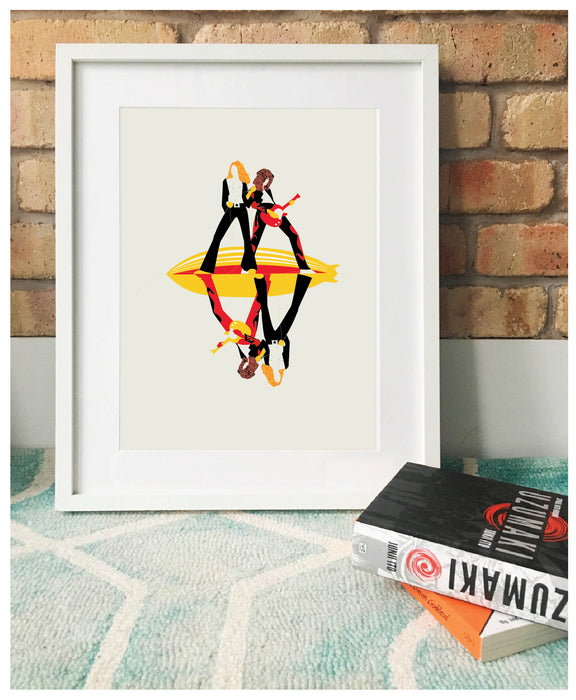 'Whole Lotta Love' Illustrated Art Print