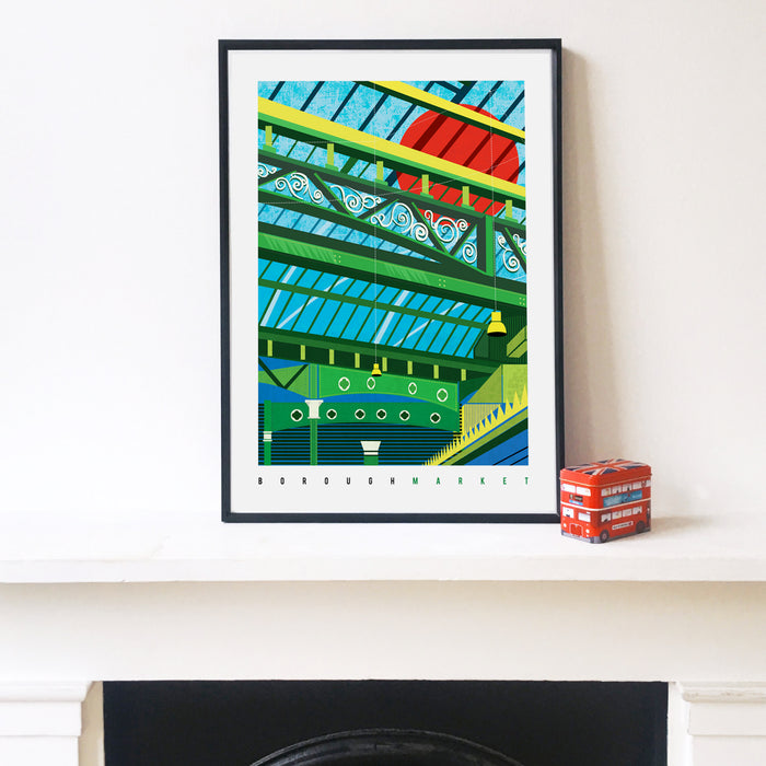 Borough Market London Art Print. Lines and Layers.