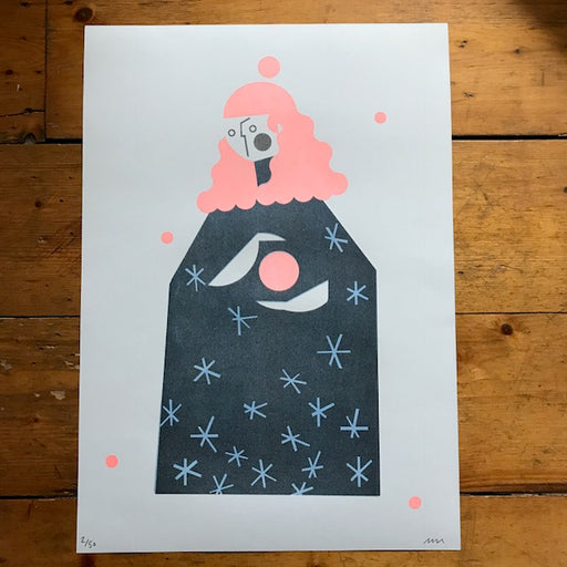 Peach Witch - Risograph Print A3