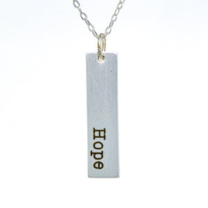 One Sided Vertical Bar Necklace
