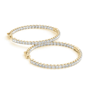 """Inside Out"" Diamond Hoops"