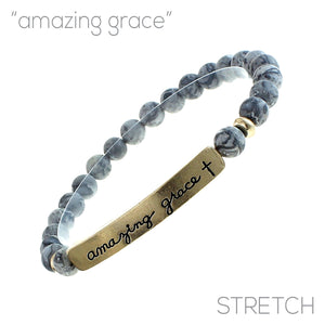 """Amazing Grace"" Natural Stone Bracelet"