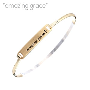 """Amazing Grace"" - Hinged Bangle"