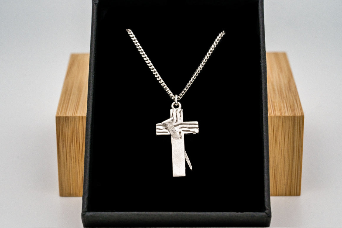 """Flash Sale"" Sterling Silver Redemption Cross Pendant 1"" Tall"