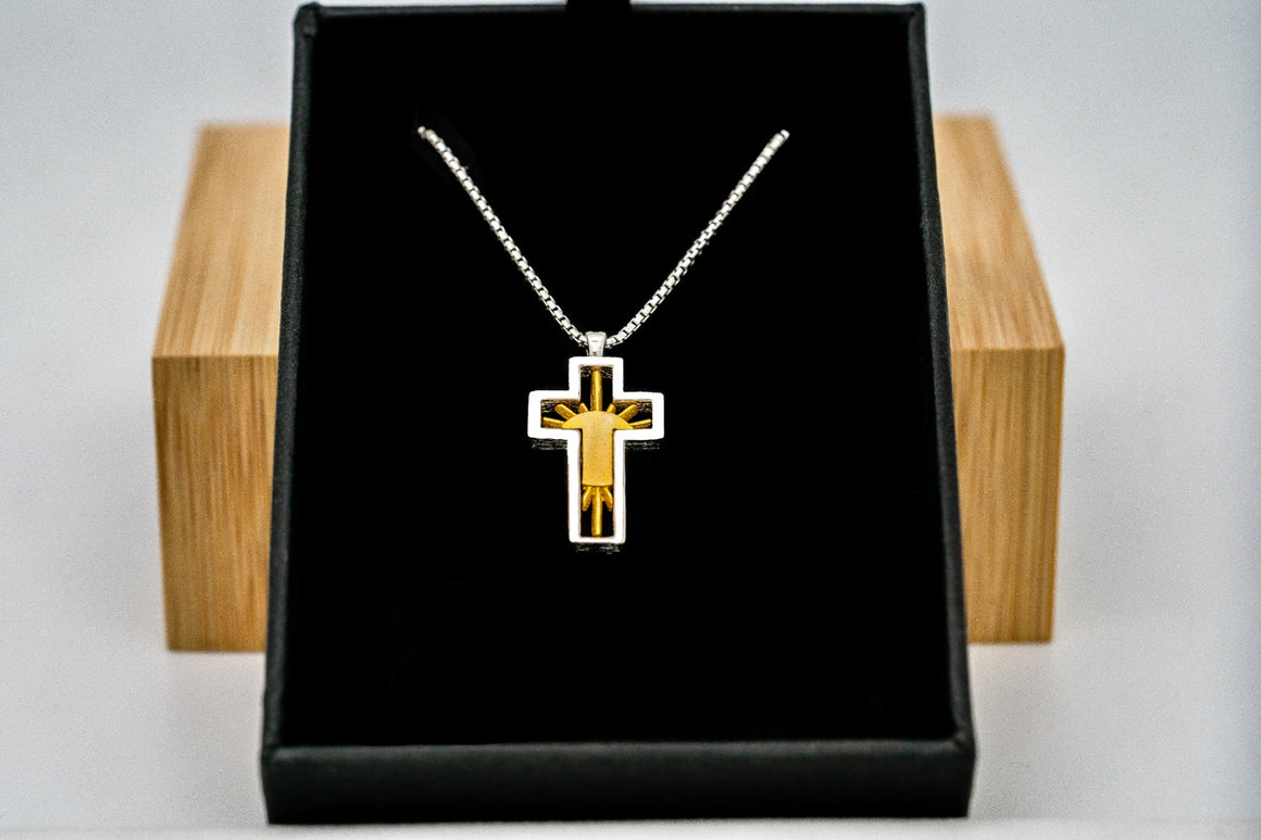 """Flash Sale"" Sterling Silver Risen Cross Pendant 1"" Tall"