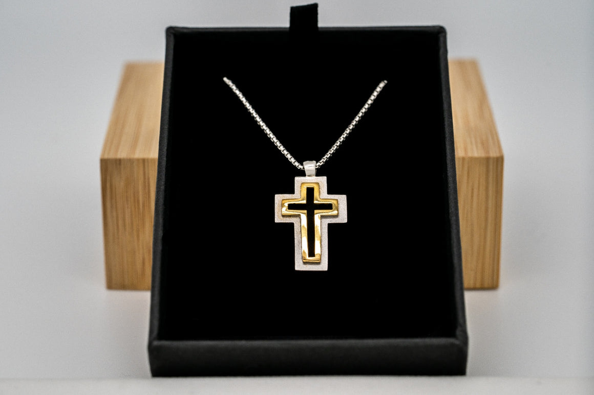 """Flash Sale"" Sterling Silver Trinity Cross Pendant 1"" Tall"
