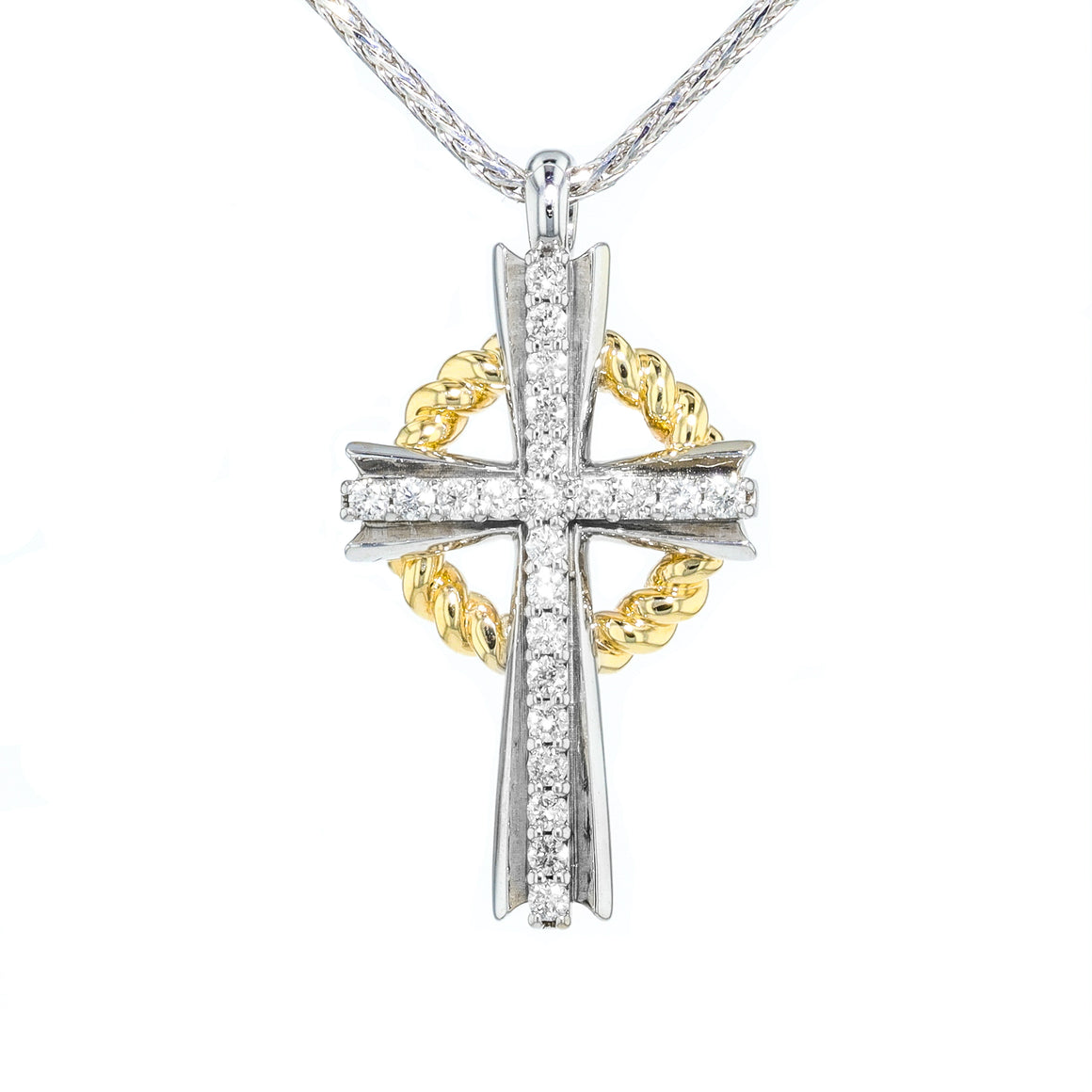 """Grace"" Diamond Cross"