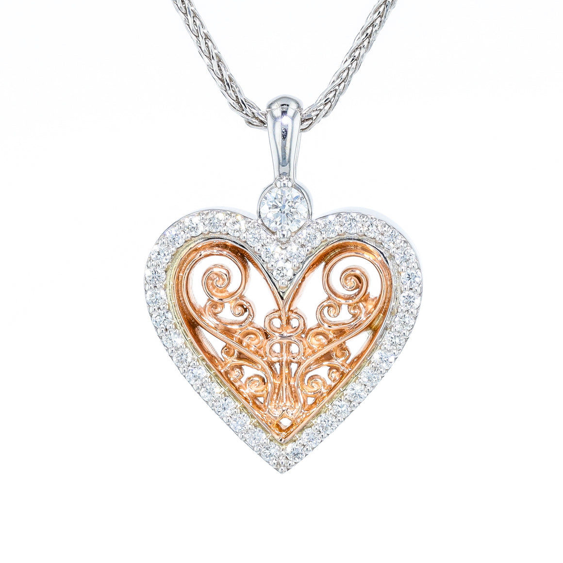 "The ""Unity Heart"" Diamond Pendant by Michael Letney"