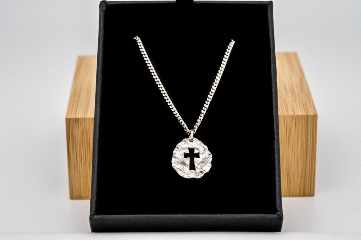 """Flash Sale"" Sterling Silver Promise Cross Pendant 3/4"" Tall"