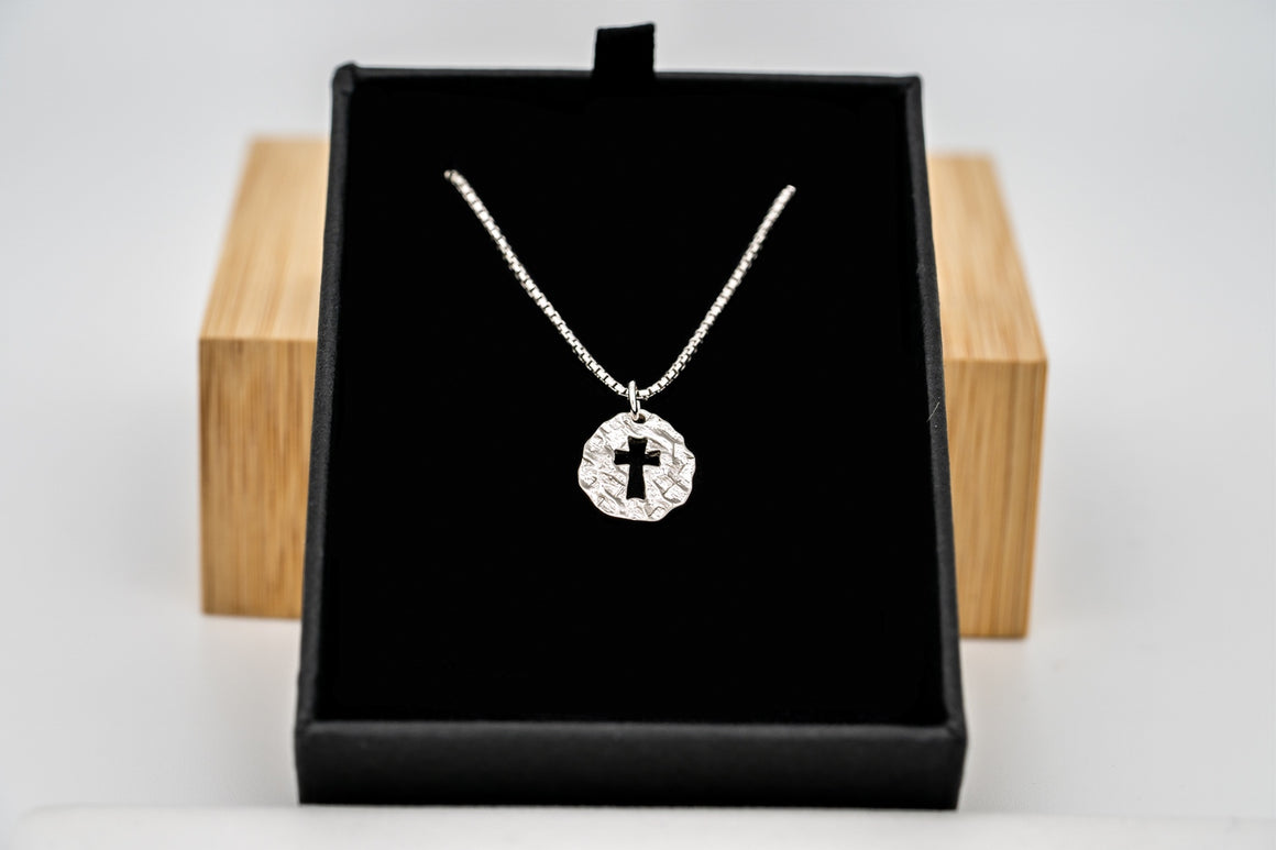 """Flash Sale"" Sterling Silver Promise Cross Pendant 5/8"" Tall"