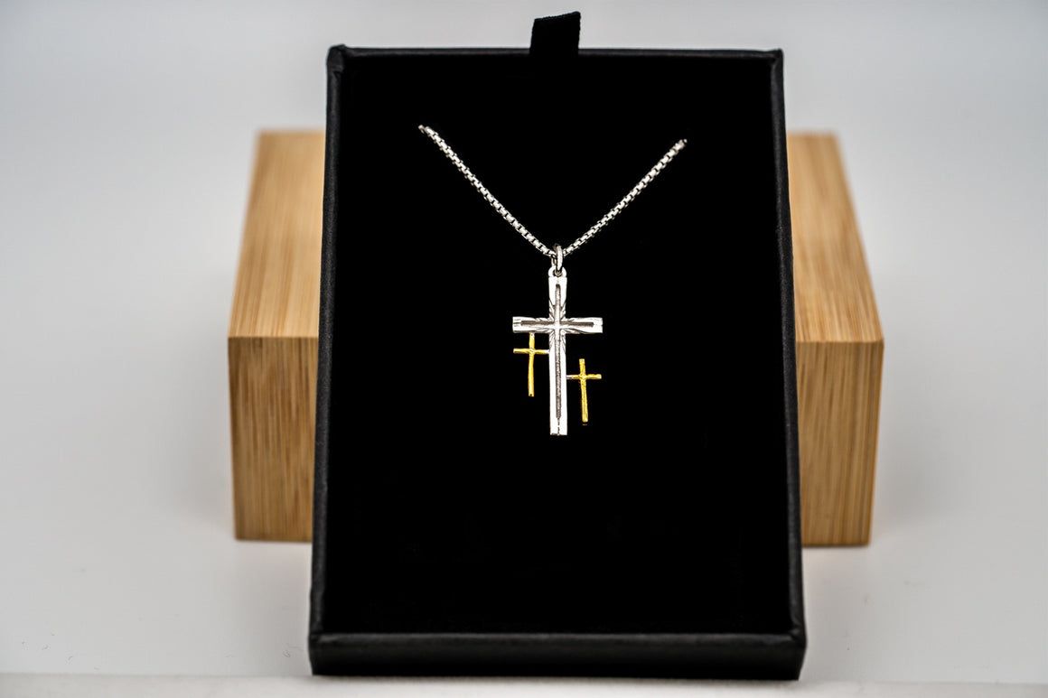 """Flash Sale"" Sterling Silver Resurrection Cross Pendant 1"" Tall"