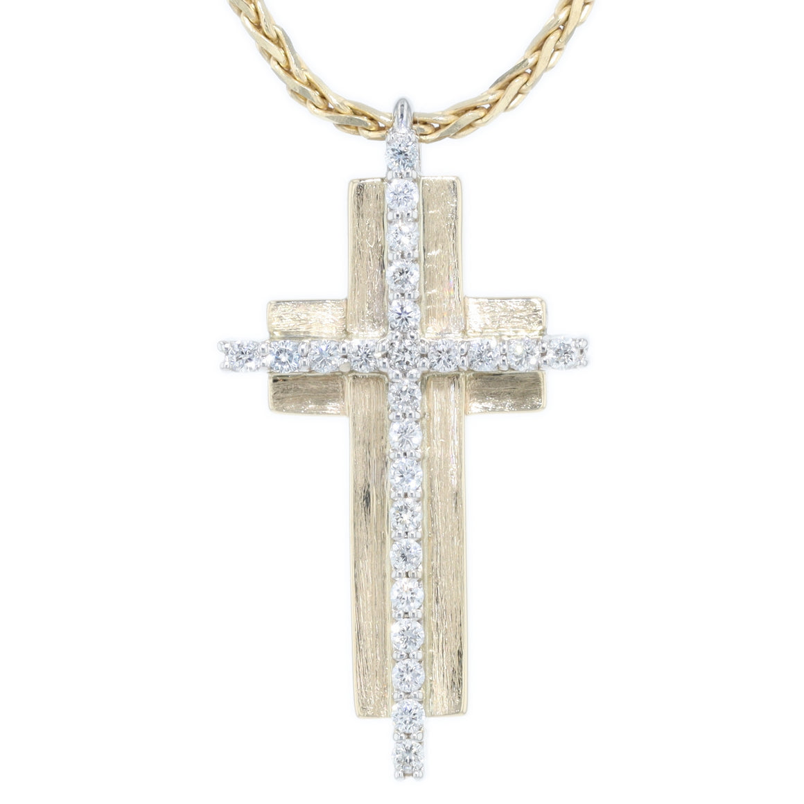 """Rock"" Diamond Cross"