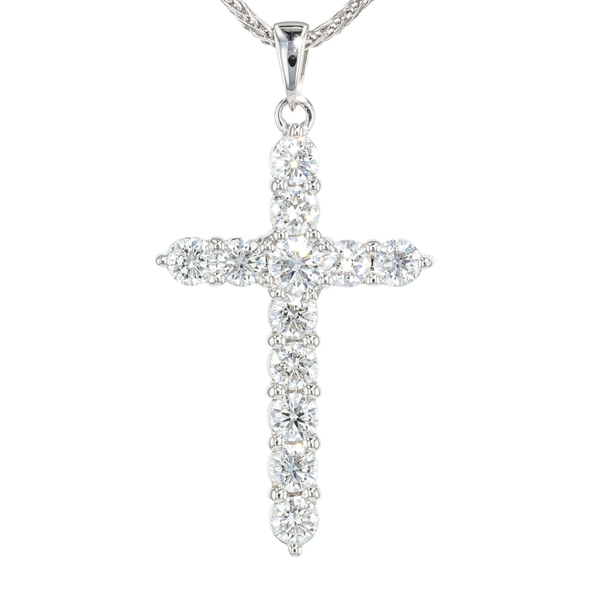 """Effortless Radiance"" Diamond Cross"