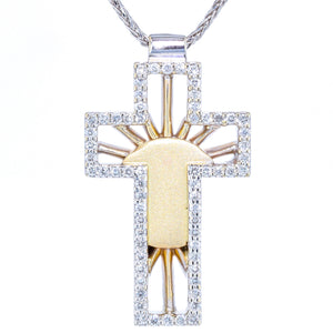 """Risen"" Diamond Cross"